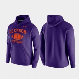 Purple Clemson Hoodie Club Fleece Mens Retro Football 602511-922