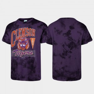 Purple Tubular Tie Dye Clemson T-Shirt Men's 415462-811