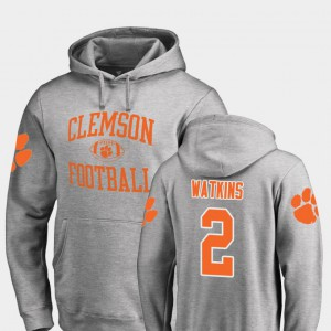 Sammy Watkins Clemson Hoodie College Football Mens #2 Neutral Zone Ash 945103-706
