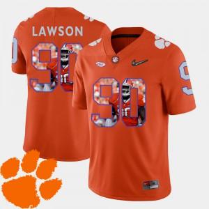 Pictorial Fashion Orange Football Shaq Lawson Clemson Jersey #90 For Men 153517-532