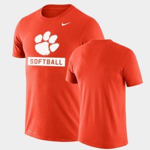 Drop Legend Performance Softball Orange Clemson T-Shirt For Men 918445-579