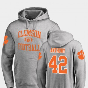 College Football Stephone Anthony Clemson Hoodie Neutral Zone Ash #42 Men 550942-648