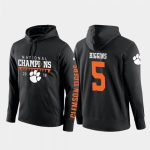 #5 College Football Pullover Men's Tee Higgins Clemson Hoodie Black 2018 National Champions 717650-278