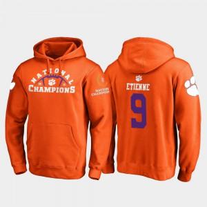 College Football Playoff Pylon 2018 National Champions Orange #9 Mens Travis Etienne Clemson Hoodie 547675-410