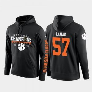 Tre Lamar Clemson Hoodie College Football Pullover Black 2018 National Champions #57 Men 253703-702