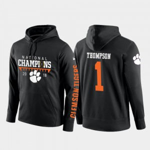 Black College Football Pullover Trevion Thompson Clemson Hoodie For Men 2018 National Champions #1 941803-566