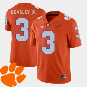 Orange Vic Beasley Jr. Clemson Jersey 2018 ACC Men #3 College Football 270289-243