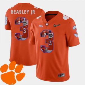 Orange For Men Football Pictorial Fashion Vic Beasley Jr. Clemson Jersey #3 832119-562
