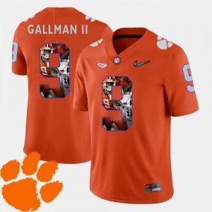 Wayne Gallman II Clemson Jersey Orange Men's Football Pictorial Fashion #9 123092-556