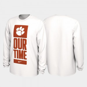 Clemson T-Shirt For Men 2020 March Madness Our Time Bench Legend White 216444-962