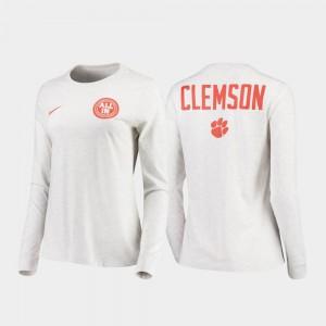 Clemson T-Shirt Statement Long Sleeve White Rivalry Men 386536-660