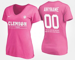 Pink For Women's Clemson Customized T-Shirts With Message #00 691823-749