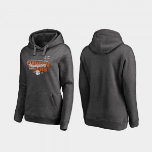 Heather Gray Clemson Hoodie 2019 Fiesta Bowl Champions For Women College Football Playoff Curl 236703-869