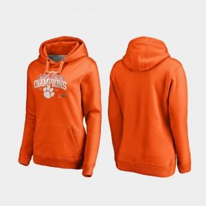 Women Orange Clemson Hoodie 2018 Cotton Bowl Champions College Football Playoff Flea Flicker 629077-220