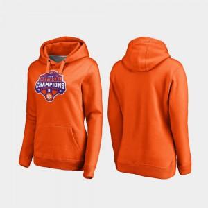 College Football Playoff Gridiron 2018 National Champions Womens Clemson Hoodie Orange 459410-837