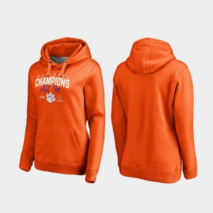 Orange 2018 National Champions Clemson Hoodie Women College Football Playoff Huddle 557306-494