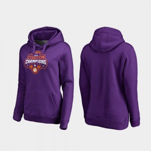 Purple College Football Playoff Gridiron 2018 National Champions Clemson Hoodie For Women 563888-513