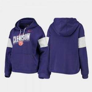 Local Purple Womens Clemson Hoodie Pullover 115380-302