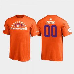Pylon Orange Youth(Kids) #00 Clemson Custom T-Shirt 2018 National Champions 815263-908