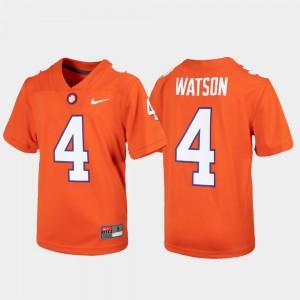 #4 Alumni Football Game Youth(Kids) Deshaun Watson Clemson Jersey Orange 989345-311