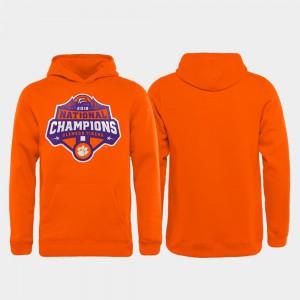 Orange 2018 National Champions For Kids Clemson Hoodie College Football Playoff Gridiron 156230-820