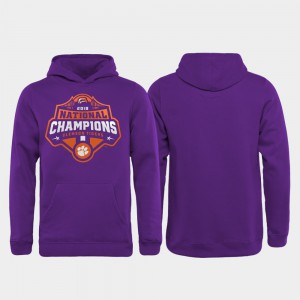 College Football Playoff Gridiron Youth Clemson Hoodie Purple 2018 National Champions 450861-380